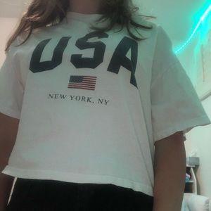 white brandy melville t-shirt